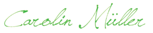 Signature of Carolin Müller, Psychologist